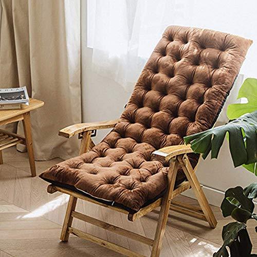 Cojín para tumbona de patio antideslizante con respaldo alto, acolchado grueso Cojín acolchado para tumbona para jardín interior y exterior, cojín para silla de oficina Cojín para silla mecedora par