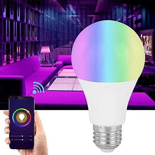 Cosiki Bombilla LED de plástico + Aluminio, Bombilla Inteligente LED, diseño Multifuncional para Salas de reuniones, hoteles, Salas de Juegos, Bares, Dormitorio(E27)