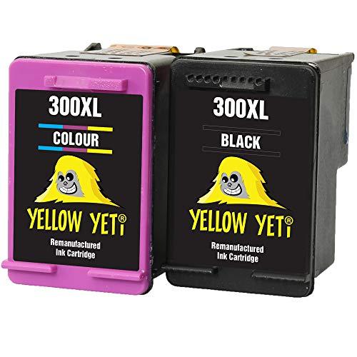 Yellow Yeti Ersatz für HP 300XL 300 XL Druckerpatronen Schwarz/Farbe kompatibel für HP Deskjet D1660 F2420 F2480 Photosmart C4780