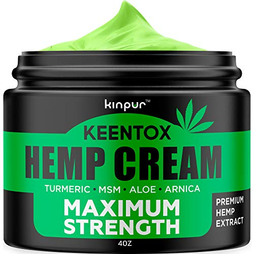 Hemp Pain Relief Cream - Relieves Muscle, Joint Pain, Lower Back Pain, Knees, and Fingers - Inflammation - Hemp Extract Remedy - Hemp Oil with Msm - Emu Oil - Arnica - Turmeric Made in USA