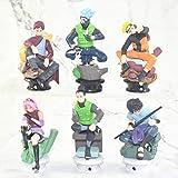 MNZBZ 6 unids/Set Naruto Figuras de Acción Muñecas Ajedrez Nuevo PVC Anime Naruto Sasuke Gaara Model...