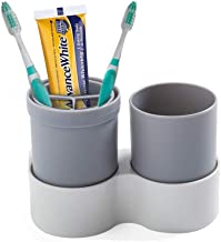 Wekity Wall-Mounted Toothbrush Holder Portable Multi-Function Portable Toothbrush Cup Set for Home, Also for Outdoor Trave...