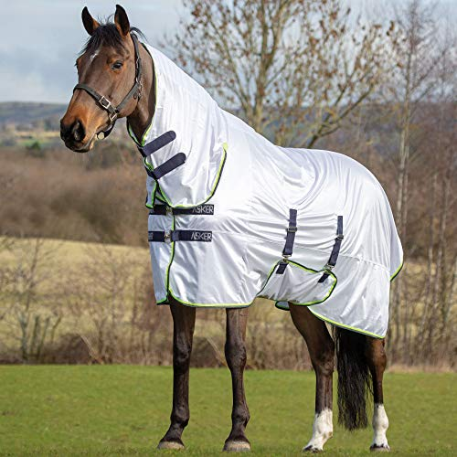 Photo of Asker Fly Combo Horse Rug – White: 6ft9