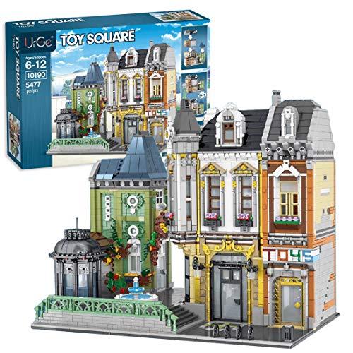 CT-Tribe Bausteine Architektur Modell, Veränderbarer Spielwarenladen Plaza Modular Architektur Modell mit...