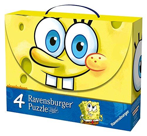 Bob Esponja Spongebob Schwammkopf–Koffer mit 4Puzzles (Ravensburger 072132)