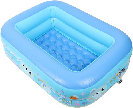 Inflatable Swimming Pool Rectangular Paddling Pool Kids Pool Bathtub For Kid Toddler Infant Amazon Ca Home Kitchen