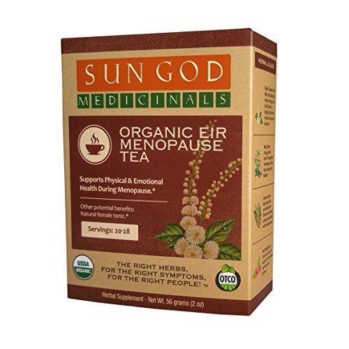Sun God Medicinals Organic Loose Leaf Herbal Tea for Menopause Support-Eir-2 oz (20-24 servings) Caffeine Free, Brew Hot Tea or Iced Tea