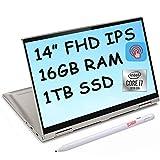 2021 Flagship Lenovo Yoga C740 14 2-in-1 Laptop 14' Full HD IPS Touchscreen Display 10th Gen Intel Quad-Core i7-10510U 16GB DDR4 1TB SSD Backlit Keyboard Fingerprint Dolby Webcam Win 10 + Pen