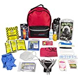 Ready America 70185 72 Hour Deluxe Emergency Kit, 1-Person 3-Day Backpack, First Aid Kit, Survival Blanket, Power Station, Multi Tool, Portable Go-Bag for Camping Car Earthquake Travel Hiking Hunting