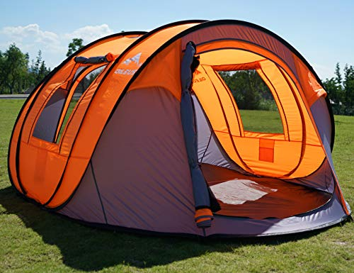 """Oileus Pop up Tents Camping 4 to 6 Person Tent Sky-Window(45""""x 25"""") Instant Camping Tent 14 Reinforced Steel Stakes &..."""