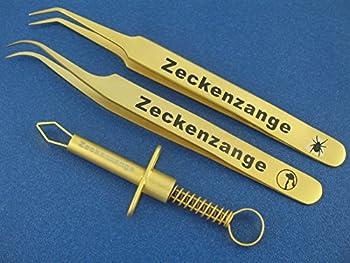 InstrumenteNrw - Pince à épiler de qualité supérieure en acier inoxydable - Pince à tiques chiens, chats, gens