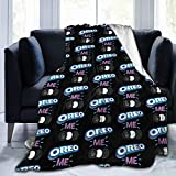 Tappetino Or-Eo Ultra-Soft Micro Fleece Blanket Chocolate Sandwich Biscuit Bedding Car Goods Cool Personality Fashion 3D 50'X40' Black