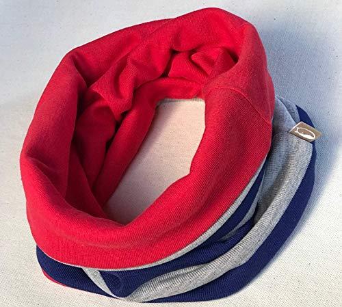 Bufanda circular Rojo - Azul