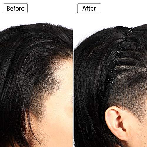 3 Pack Unisex Hair Band Metal Headband Black Head Band Spring Wavy Nonslip Men Women Sports Fashion Headwear (Spring Wave)