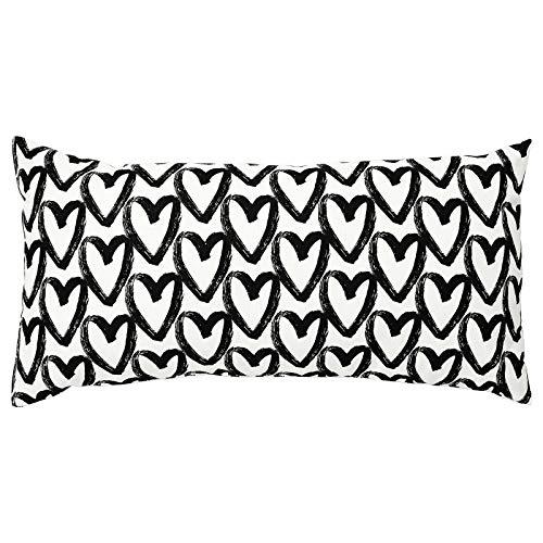 IKEA LYKTFIBBLA - Juego de ropa de cama (140, 155, 200, 240 cm, cojín de 30 x 58 cm), diseño de corazones