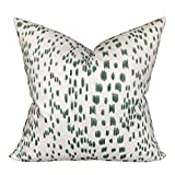 Flowershave357 Designer Brunschwig and Fils Les Touches in Green Pillow Cover Pillowcase Green Throw Pillows
