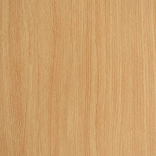 Wood Contact Paper Wood Wallpaper Peel and Stick Wallpaper Light Wood Grain Contact Paper for Cabinets Self Adhesive Wallpaper Removable Wallpaper 17.7×118 Inches PET Easy to Install & Clean