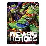 Nickelodeon's Teenage Mutant Ninja Turtles, 'We Are Heroes' Micro Raschel Throw Blanket, 46' x 60', Multi Color