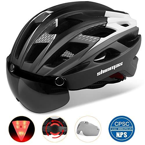 Shinmax 069式 自転車 ヘルメット 大人 LEDライト付 CPSC認定...
