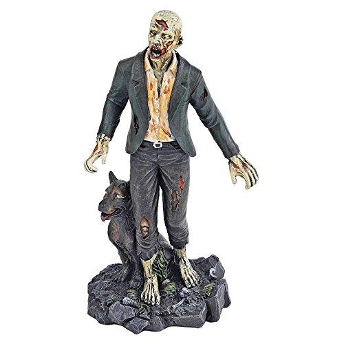 Design Toscano Wandelnde tote Zombies, Figurenkollektion: Zombie mit Wolf