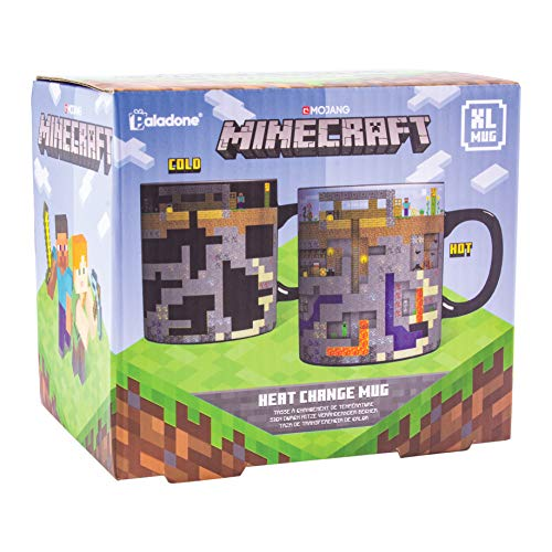 Paladone PP6585MCF Minecraft Kaffee, XL Becher mit Wärmewechsel, 550 ml, Steingut
