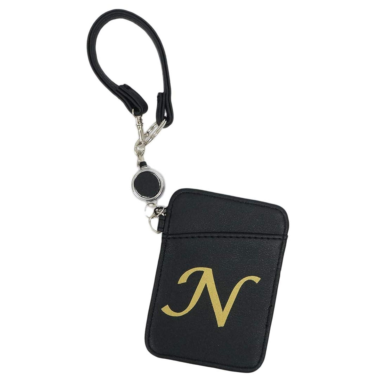 パスケース Keys 定期入れ ICカード リール付き イニシャル アルファベット メンズ レディース 通勤 通学 新生活