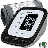 Tensiómetro de Brazo Digital Recargable USB, Monitor Eléctrico de Presión Arterial Medición Automática de la Presión Arterial y Latido Cardíaco Dos Registros de Salud del Usuario Memoria 2 x 90
