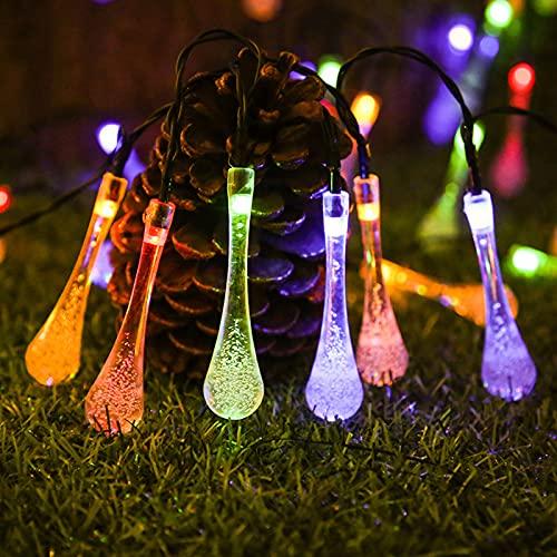Stringa di luci solari per esterni, luce a filo d'argento a 8 modalità, luci esterne per patio solare impermeabile per gazebo, patio, giardino, cortile, bistrot, vacanze