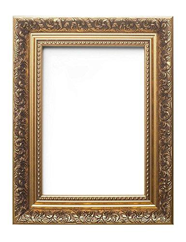 Rahmen, französischer Barock-Stil mit Verzierungen im Antik-Stil, für Bild / Foto / Poster, gold, A5 (14.8 x 21cm)