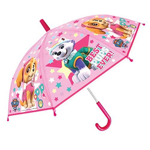 """Chanos Paw Patrol Kinderregenschirm """"Helfer auf Vier Pfoten""""-Motiv, 4666, Rosafarben, 40 cm"""