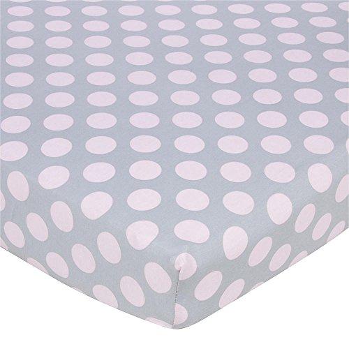 Gerber Knit Crib Sheet - Pink Dots on G