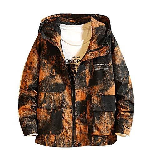MYAOGO Jacke Herren Softshell Jacke Winterjacke Windbreaker Dünne Jacke Freizeitjacke Männer Winter Outwear Jacke Windbreaker mit Kapuze