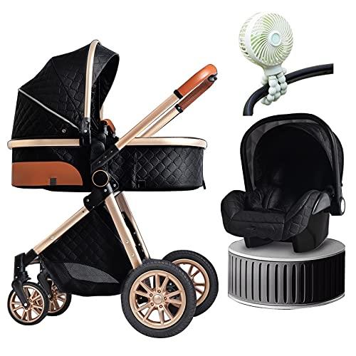 Sistema de viaje de lujo 3 en 1, para cochecito de bebé, trípode flexible fijo al ventilador plegable para cochecito de bebé con organizador de cochecito con soporte para teléfono móvil (color B: B)