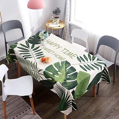 XXDD Mantel de Lino con Estampado de Animales y decoración de Mesa de Boda Familiar, Mantel Rectangular A1 140x160cm