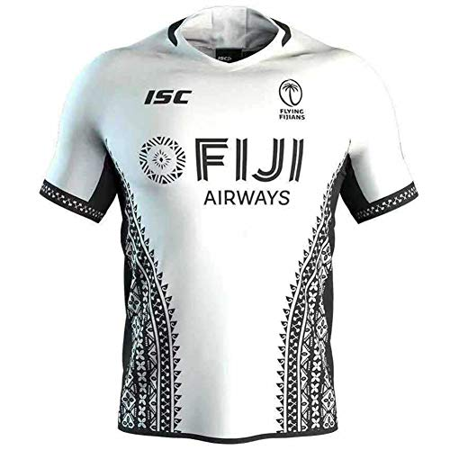 Herren Rugby-Trikot, 2020, Fiji, Rugby-Trikot, Sevens, Rugby-Trikot, Hauptgäste, Sportbekleidung, Fitnessstudio, bequeme Weste, T-Shirt (S-5XL) Gr. XL, D
