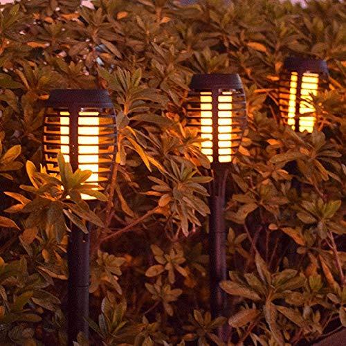 azfdxgfc Solar Garten Licht - Wasserdicht IP65 10 LED Solar Fackeln Solarleuchte Garten Bis Dawn Automatische EIN/Aus, Solarlampen für Außen LED Solar Taschenlampe, soalr Spotlight Außen, 2/6 Stück