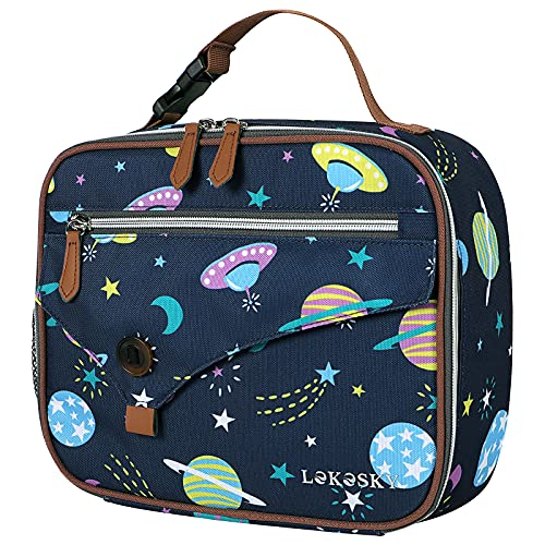 Lekesky Insulated Lunch Bag for Kids Lunch Box Bag for Boys Portable Cooler...