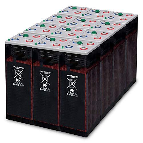 Plusenergy Baterías Estacionarias OPzS 12-600Ah-810Ah 24V / 12 Vasos - Apto para 12V / 24V /48V
