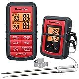 Photo Gallery thermopro tp08c termometro da cucina digitale con cottura senza fili a doppia donda per barbecue carne forno termometro per alimenti, monitora la temperatura a partire da 500 piedi di distanza