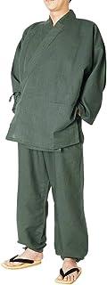 作務衣 メンズ 涼雅 薄手-綿麻作務衣