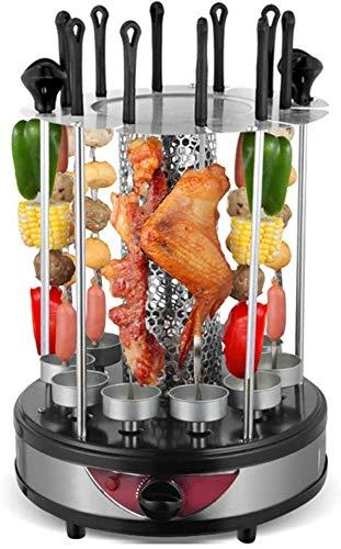 HOSUAI Vertikaler Rotisserie-Rösterofen, Smart Electric BBQ Grill Rauchfreie Automatische Rotierende Kebab-Maschine, Bis Zu 300 ° F 1350 W, 220 V,8 Fork
