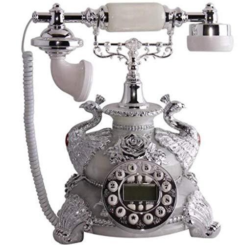 Teléfono Retro Botón Vintage Teléfono Fijo Teléfono Antiguo Oficina en casa Teléfono Fijo