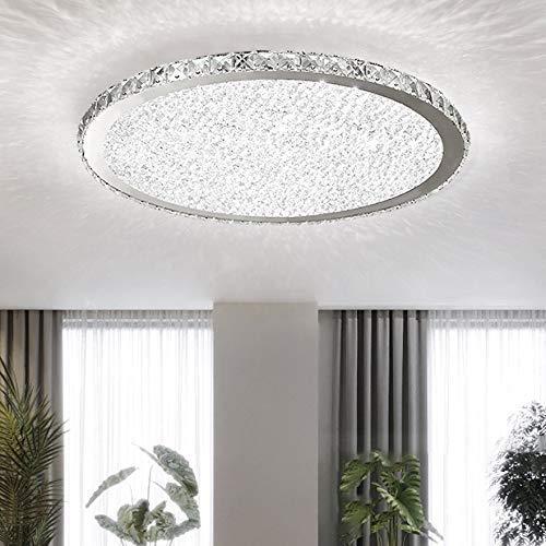 Living Equipment Lámpara de techo moderna minimalista redonda con forma de luz empotrada LED Lámpara de techo ultrafina en luz blanca para sala de estar, dormitorio, restaurante, comedor, cocinas,