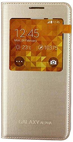 Samsung View Cover EF-CG850BF SM-G850F Galaxy Alpha Tasche Case Hülle Etui Schutzhülle