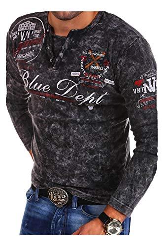 MT Styles Vintage Longsleeve VT-Blue T-Shirt R-0763 [Schwarz, XXL]