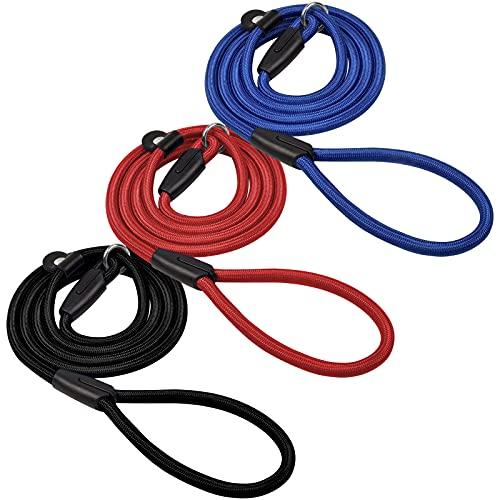Chstarina 1.5m Correa de Perro para Adiestramiento Correa de Perro Obediente Cuerda Nylon Largo Mascota Perro Formación Correa de Entrenamiento Llevar (Azul, Rojo, Negro)