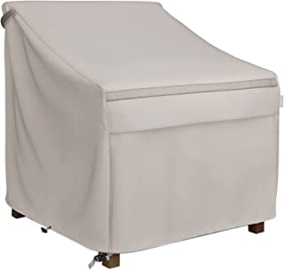 MR. COVER Waterproof Patio Chair Covers for Outdoor Furniture, 35W x 38D x 31H Inches, Heavier Materials, Neutral Color, A...