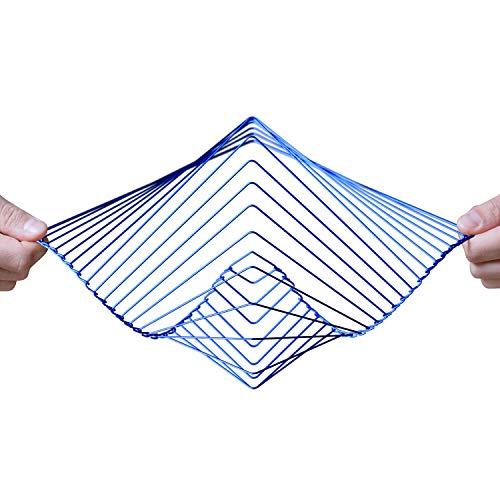 Ivan Black Square Wave | Das faszinierende, kinetische Windspiel | Magische beruhigende Kunstwerke von Ivan Black (Saphir)