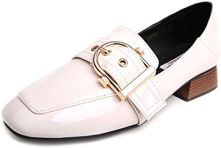 Chaussures pour femmes Feifei PU + Anti-dérapant résistant à l'usure Semelle d'été mi-Talon Version coréenne Mode Chaussures Simples Deux Couleurs à Choisir de (Couleur   01, Taille   EU39 UK6 CN39)