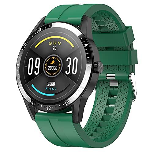 QFSLR Smartwatch Reloj Inteligente con Telefonía Bluetooth Monitor De Frecuencia Cardíaca Monitor De Presión Arterial Monitoreo De Oxígeno En Sangre Impermeable 67 para Android iOS,Verde